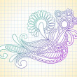 Lined Sketchbook Paper Background — 图库矢量图片 #8029055
