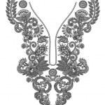 Neckline embroidery fashion — Stock Vector #8029434