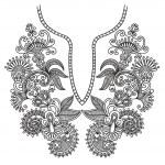 Neckline embroidery fashion — Stock Vector #8029442