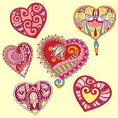 Heart shape set — Stock Vector