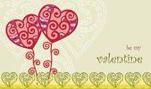 Fondo floral valentines — Vector de stock