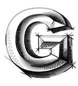 рука рисовать эскиз письма — Cтоковый вектор
