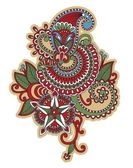 Flower tattoo design — Stock Vector