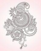 Flower Design Element — Stock Vector