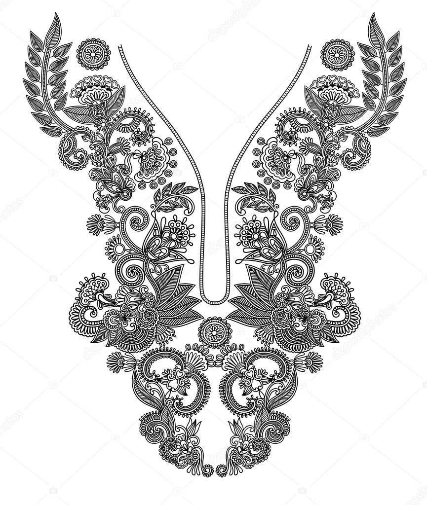 Hand draw ornate floral pattern  — Stock Vector #8029434