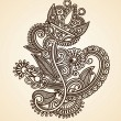 Royalty-Free Stock Vector Image: Henna floral tattoo design