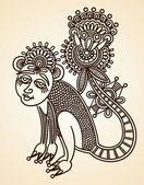 Animals doodle design element — Stock Vector