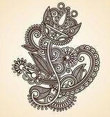 Henna floral tattoo design — Stock Vector