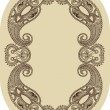 Ornate vintage frame — Stock Vector