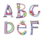 Sketchy alphabet design — Stock Vector