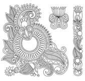 Black flowers Illustration design element — Stock Vector