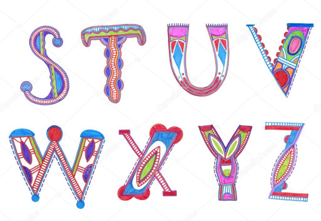 A Alphabet Design Sketchy alphabet design