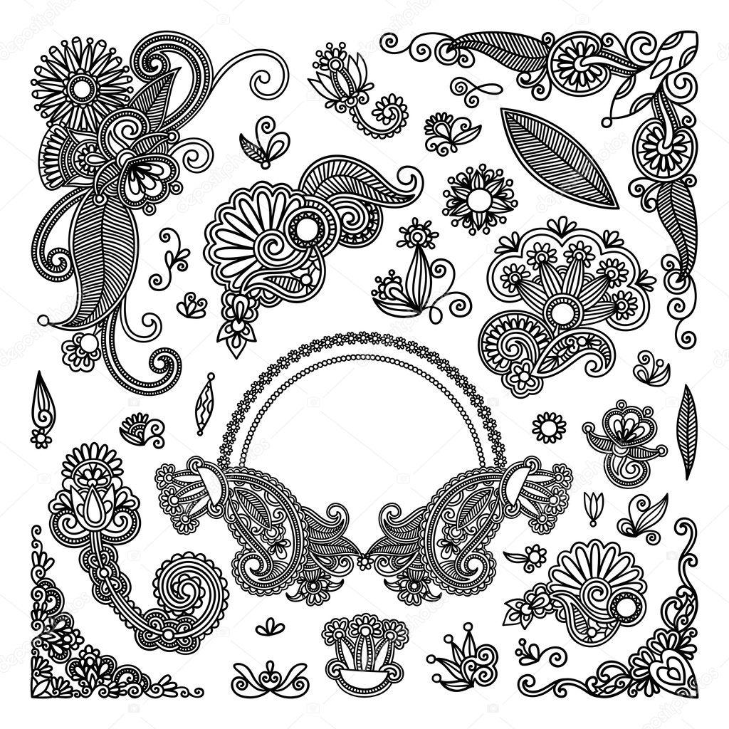 Цветы черно белые нарисованные картинки 7