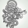 Royalty-Free Stock Vector Image: Ornate flower design