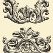 Royalty-Free Stock Vektorgrafik: The reliefs of the 19th century Kiev buildings