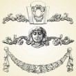 Royalty-Free Stock Imagen vectorial: The reliefs of the 19th century Kiev buildings