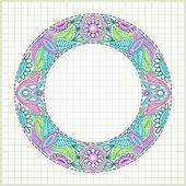 Doodle vector flower element — Stock Vector