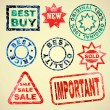 Set of grunge rubber stamps sales — Stock Vector