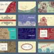 Royalty-Free Stock Vector Image: Ornamental business card collection