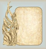 Main draw sketch vintage ossatures — Vecteur