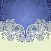 Ornate floral background — Stockvector
