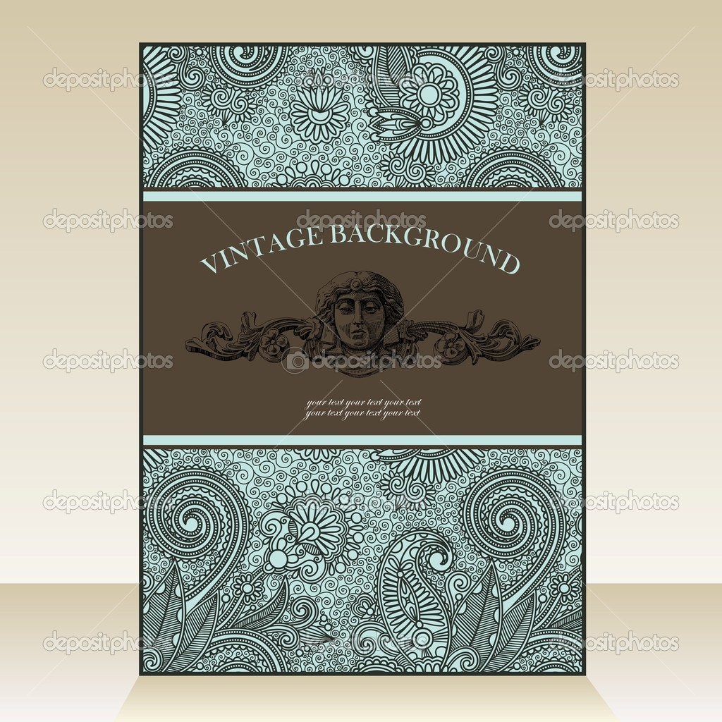 Hand draw  ornate vintage background — Stock Vector #8073312