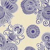 Dikişsiz çiçek desenli tasarım — Stok Vektör