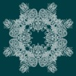 Ornate snowflake - Stockvektor