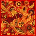 Acrylic painting flower — Stock Vector #8605780