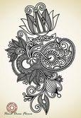 华丽的花卉设计 — 图库矢量图片