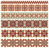 Cross-stitch ethnic Ukraine pattern — Stock Vector