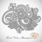 Ornate flower design — Stock Vector