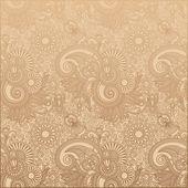 Flower paisley design — Stock Vector