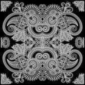 Floral Paisley Bandana — Stock Vector