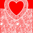 Valentine Day card with heart — Stock Vector