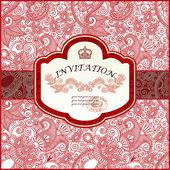 Vector ornamental invitation card — Stock Vector