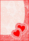 Valentin Day card with heart — Stock Vector