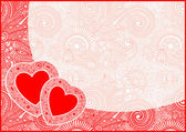 心とバレンティンの日カード — ストックベクタ