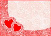 Valentin-tageskarte mit herz — Stockvektor