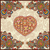 Unique ornamental carpet design for valentines day — Stock Vector