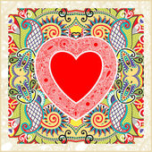 Valentin Day card with heart — Cтоковый вектор