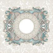 Ornamental template — Stock Vector