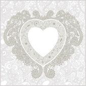Valentin carta di giorno con cuore — Vettoriale Stock
