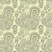 Seamless flower paisley design — ストックベクタ