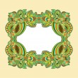 Ornamental floral vintage frame — Stock Vector