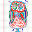 Royalty-Free Stock Vector Image: Doodle owl marker drawing