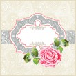 Ornate pattern with rose - Stock Vector