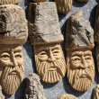 Figurines made ​​of wood. folk art — Stock Photo