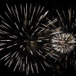 Royalty-Free Stock Photo: Fireworks on a dark night sky