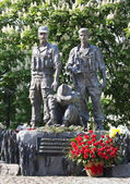 KIEV; UKRAINE - MAY 6 :Memorial to the soldiers who fought in Af — Stock Photo